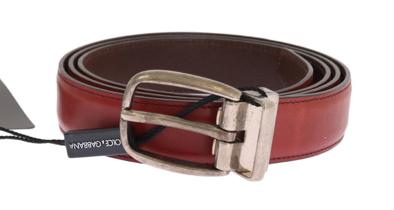 Dolce & Gabbana Men's Leather Buckle Belt Gold BEL11025 - 100 cm / 40 Inches