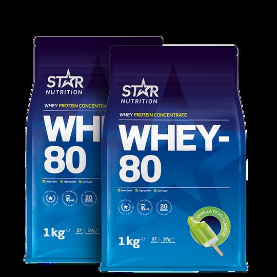 2 x Whey-80, 1 kg