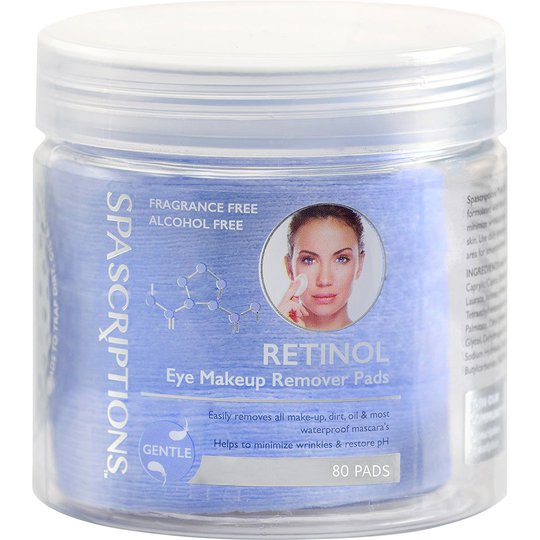 Retinol Eye Makeup Remover Pads, 80 pcs Spascriptions Silmät