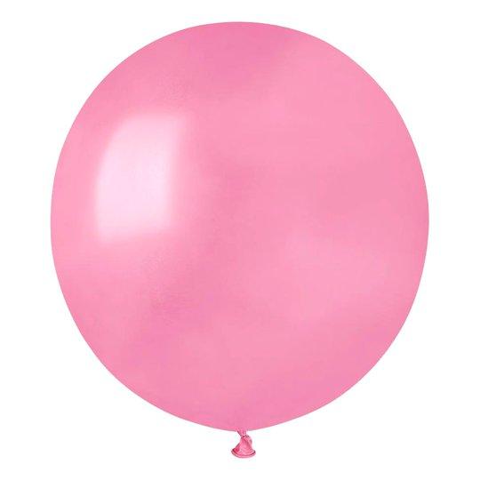 Ballonger Metallic Rosa Runda Stora - 10-pack