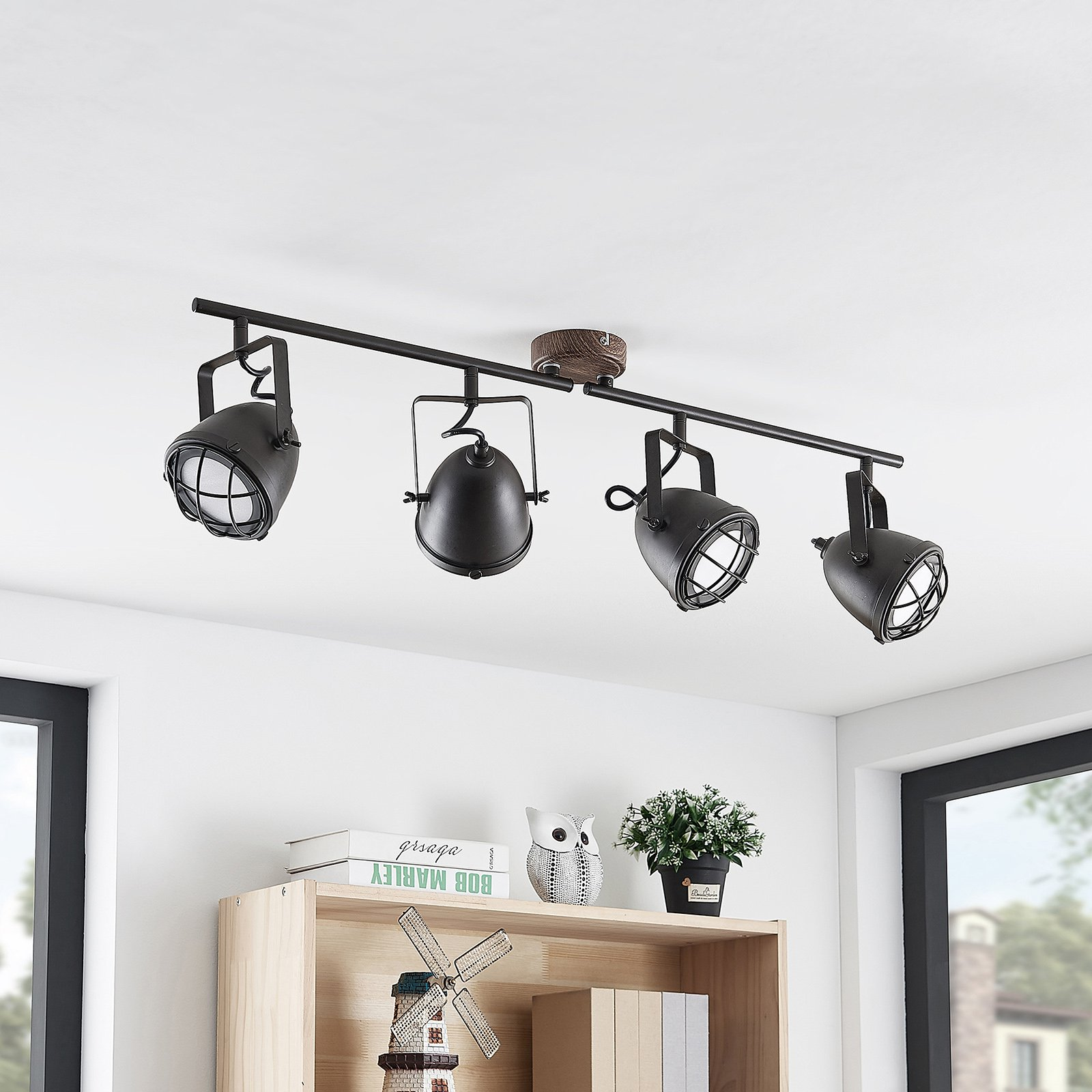 Lindby Adeon LED-taklampe, 4 lyskilder