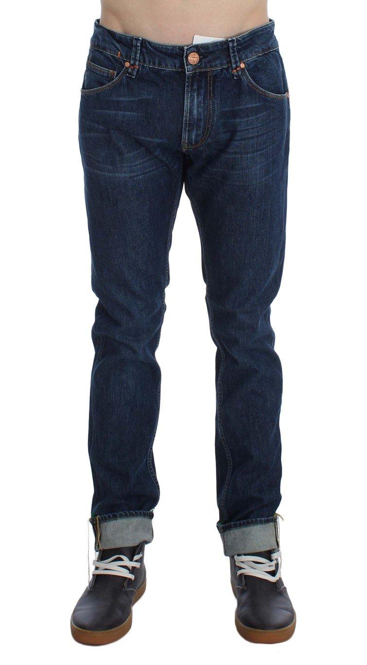 ACHT Men's Cotton Stretch Slim Fit Jeans Blue SIG30449 - W34