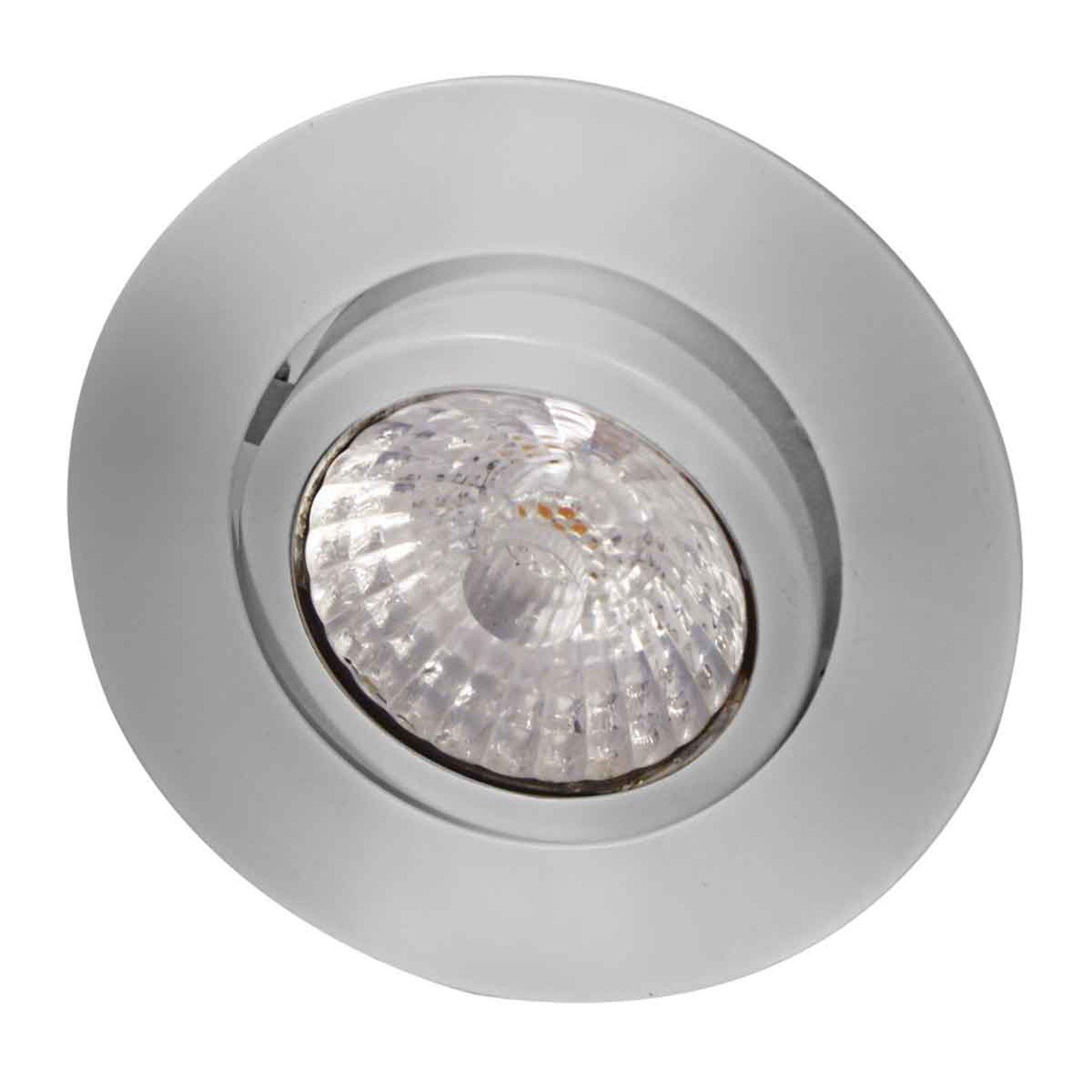 Rico LED innfellingspot, dim to warm, børstet stål