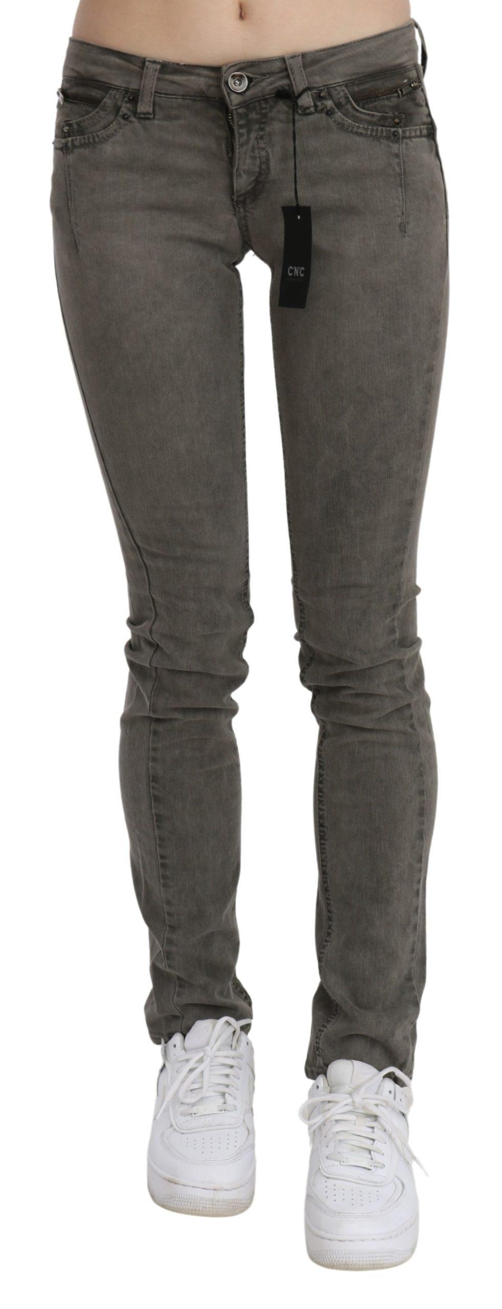 Costume National Women's Low Waist Skinny Denim Cotton Jeans Gray PAN70726 - W26