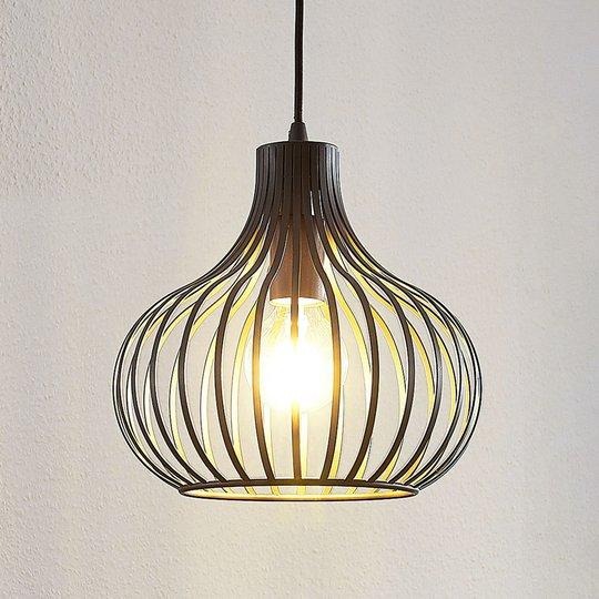Riippuvalaisin Frances, ruskea, 1-lamppuinen 28 cm