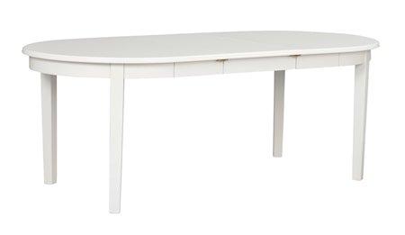 Koster Spisebord Ovalt Hvit 163 x 103 cm