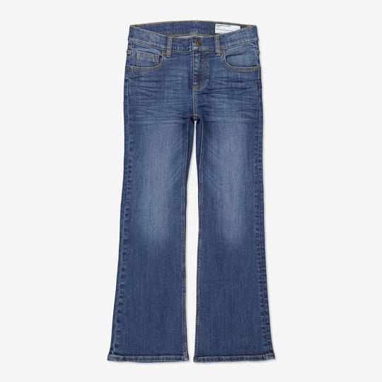 Jeans bootcut blå denim