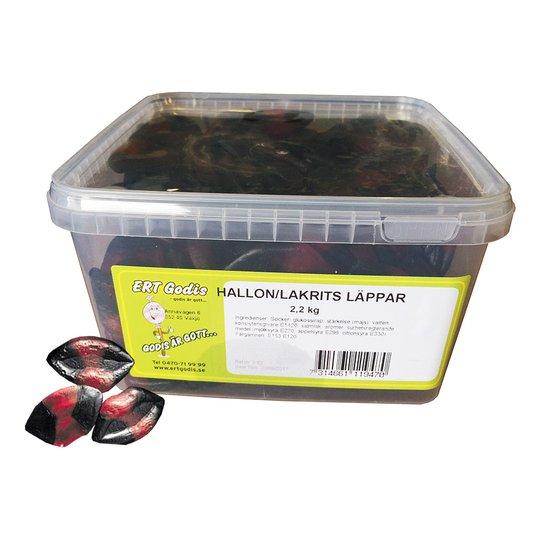 Hallon Lakrits Läppar - 2.2 kg
