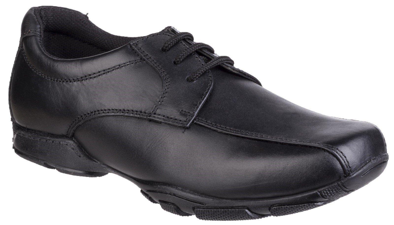 Hush Puppies Men's Vincente Senior School Shoe Black 25352 - Black 7.5