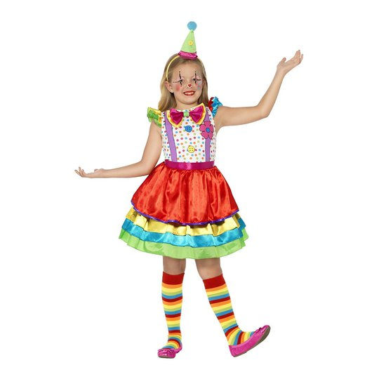 Clownklänning Barn Maskeraddräkt - Small
