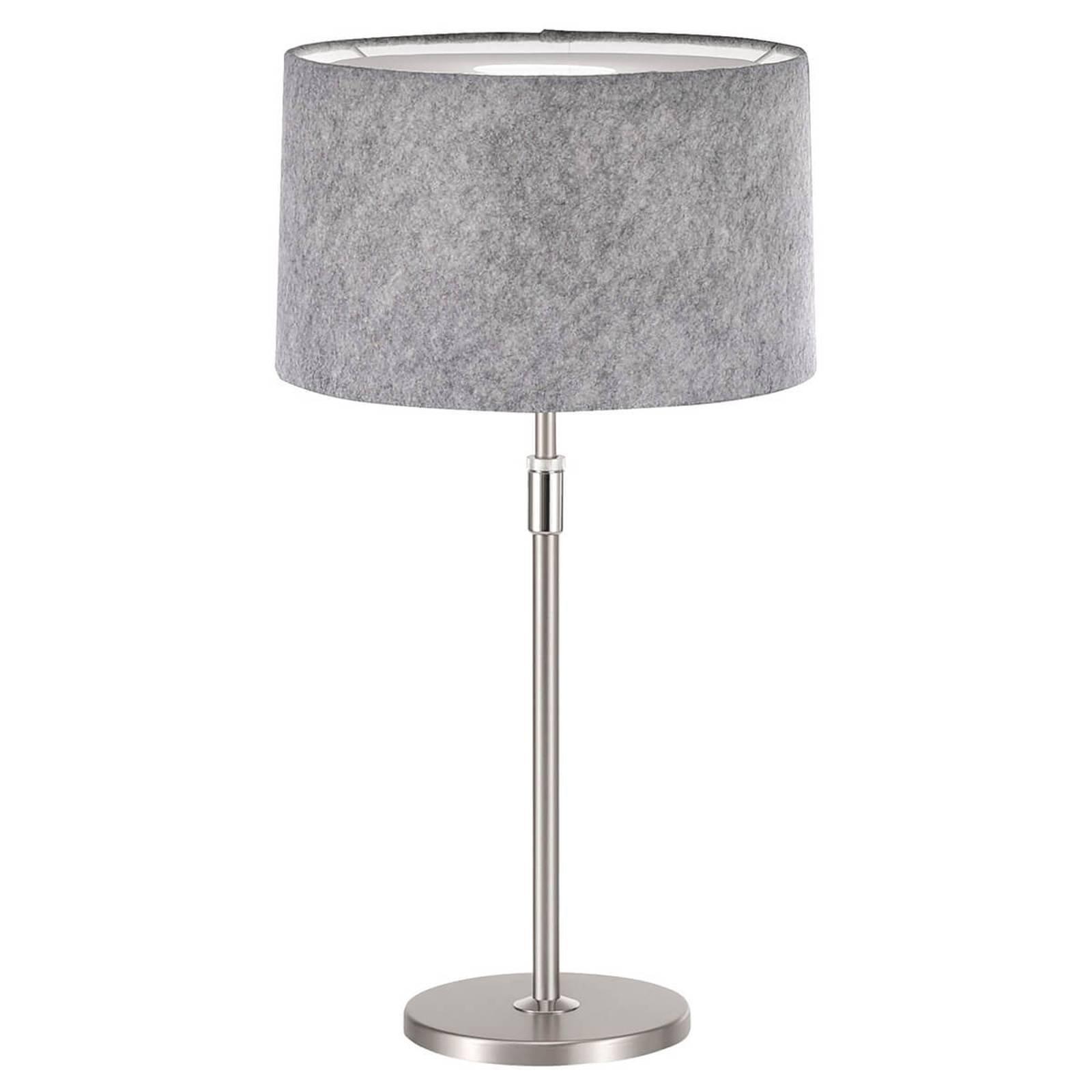 Loop - bordlampe med filtskjerm, lysegrå