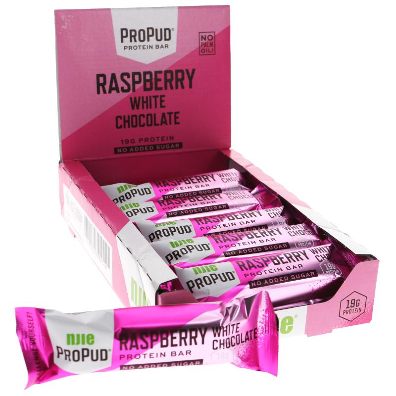 Proteinbars Hallon & Vit Choklad 12-pack - 38% rabatt
