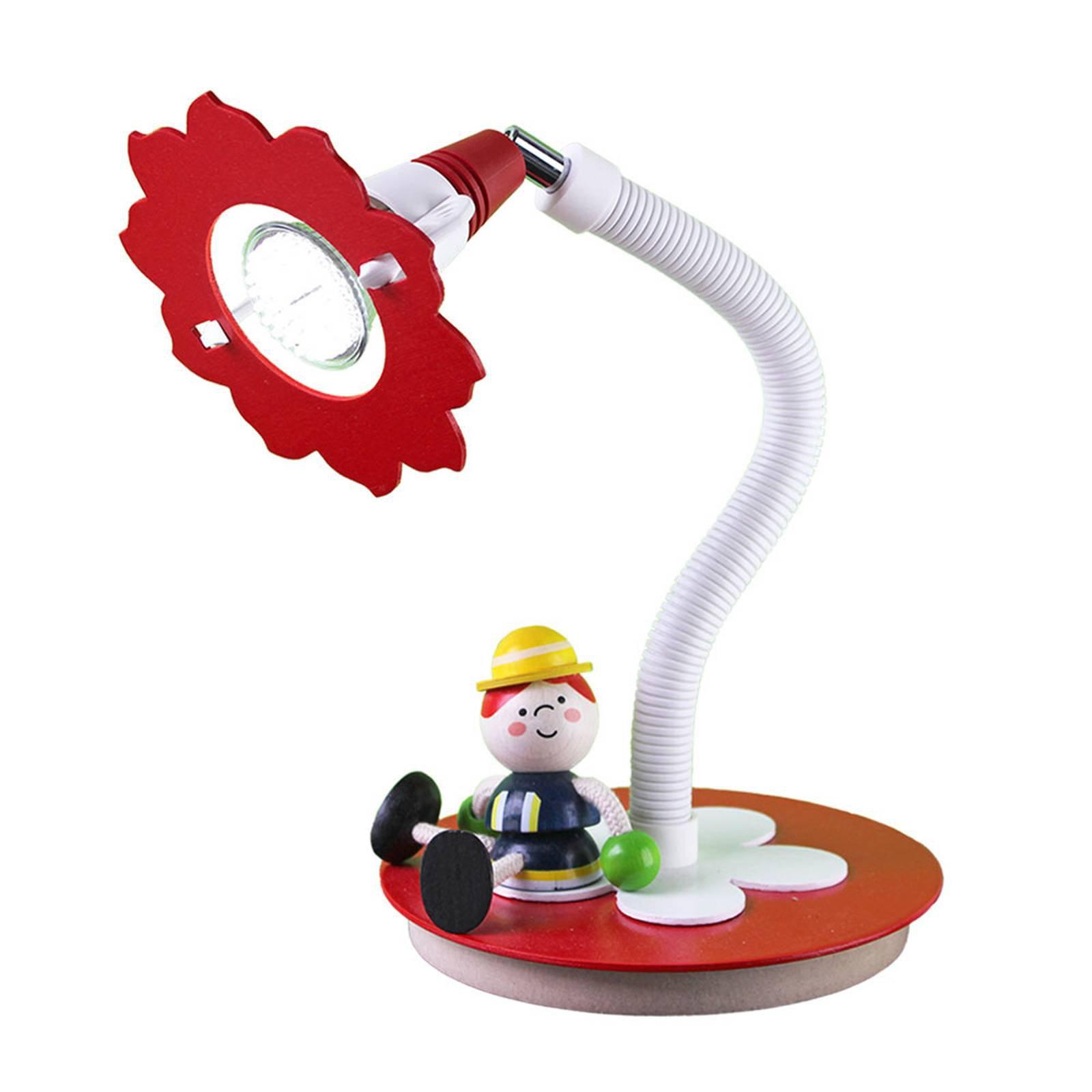 LED-bordlampe Brannmann Fred, rød og hvit
