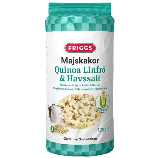 Maissikakut Kvinoa, Pellavansiemen & Merisuola - 32% alennus