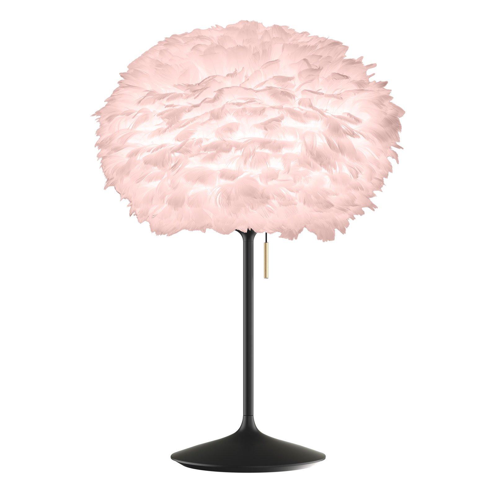 UMAGE Eos Medium bordlampe rosa/champagne svart