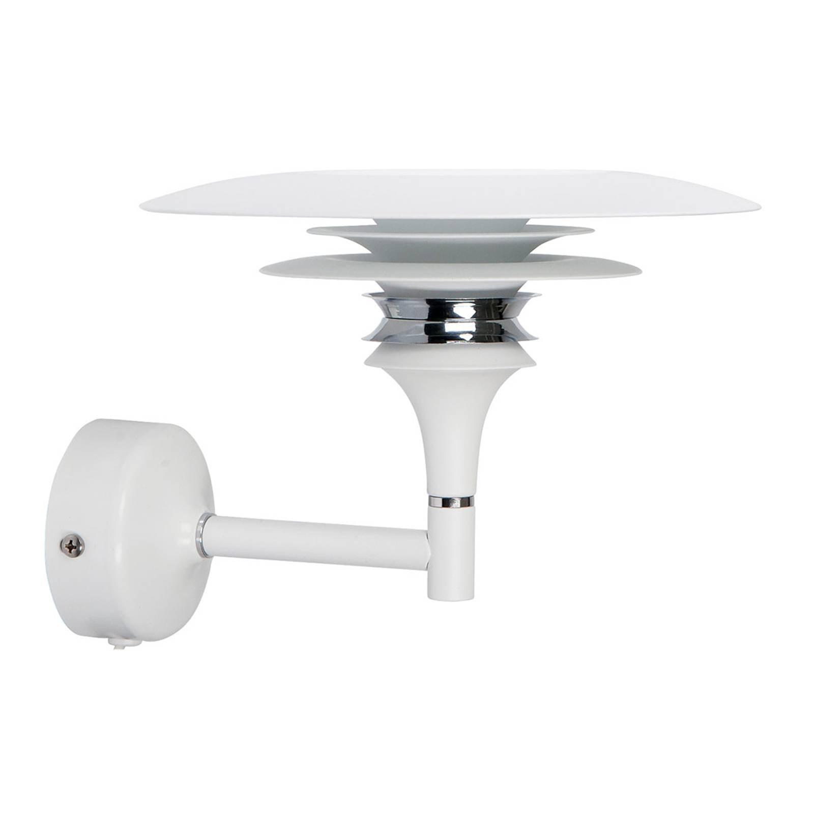 LED-vegglampe Diablo hvit, med plugg