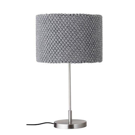 Bordlampe Grå Metall 62cm