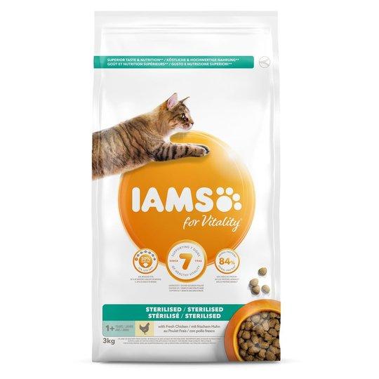 Iams for Vitality Cat Light in Fat/Sterilised Chicken (10 kg)