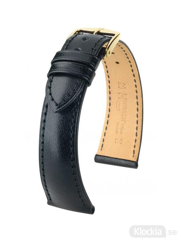 Hirsch Siena, Artisan Leather 16mm Medium Svart/Guld 04202150-1-16