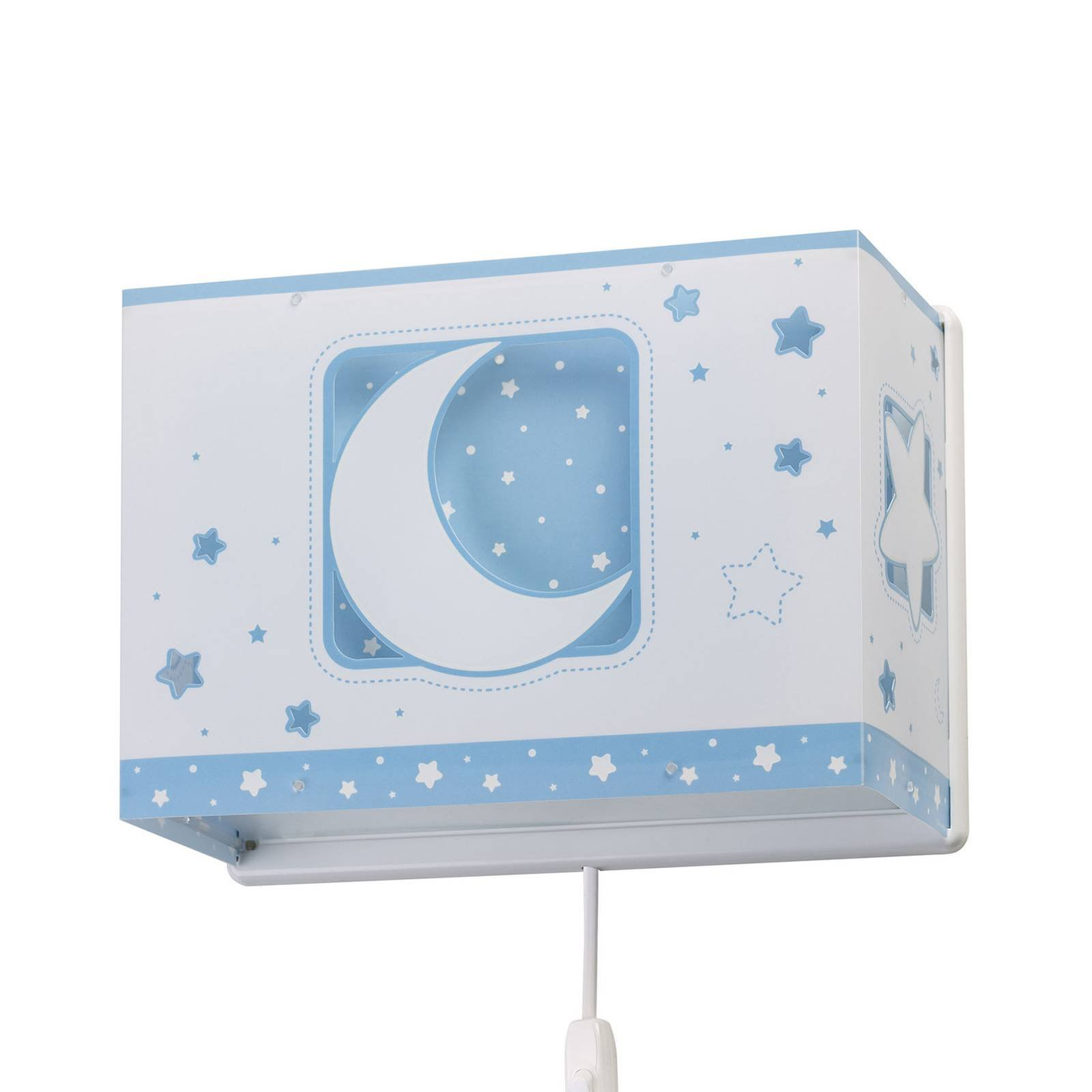 Pendellampe til barnerom Moonlight med plugg, blå