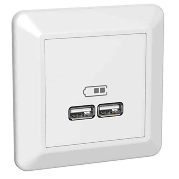 Elko RS Ladestasjon innfelt, 2 USB