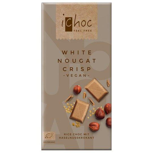 iChoc Chokladkaka Vit Nougatkrisp, 80 g