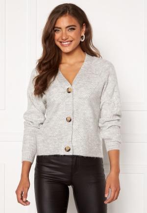 ONLY Carol L/S Cardigan Knit Light Grey Melange L