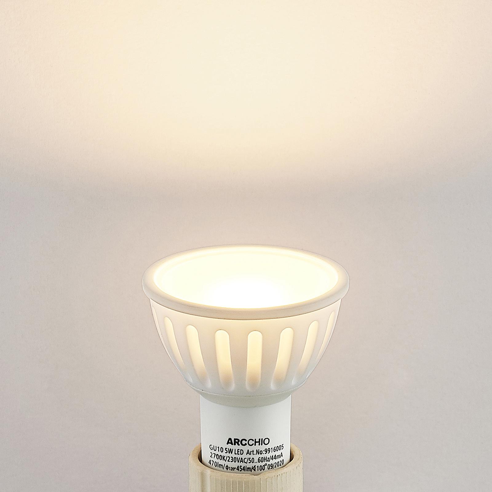 Arcchio-LED-heljastinlamppu GU10 100° 5W 2 700 K