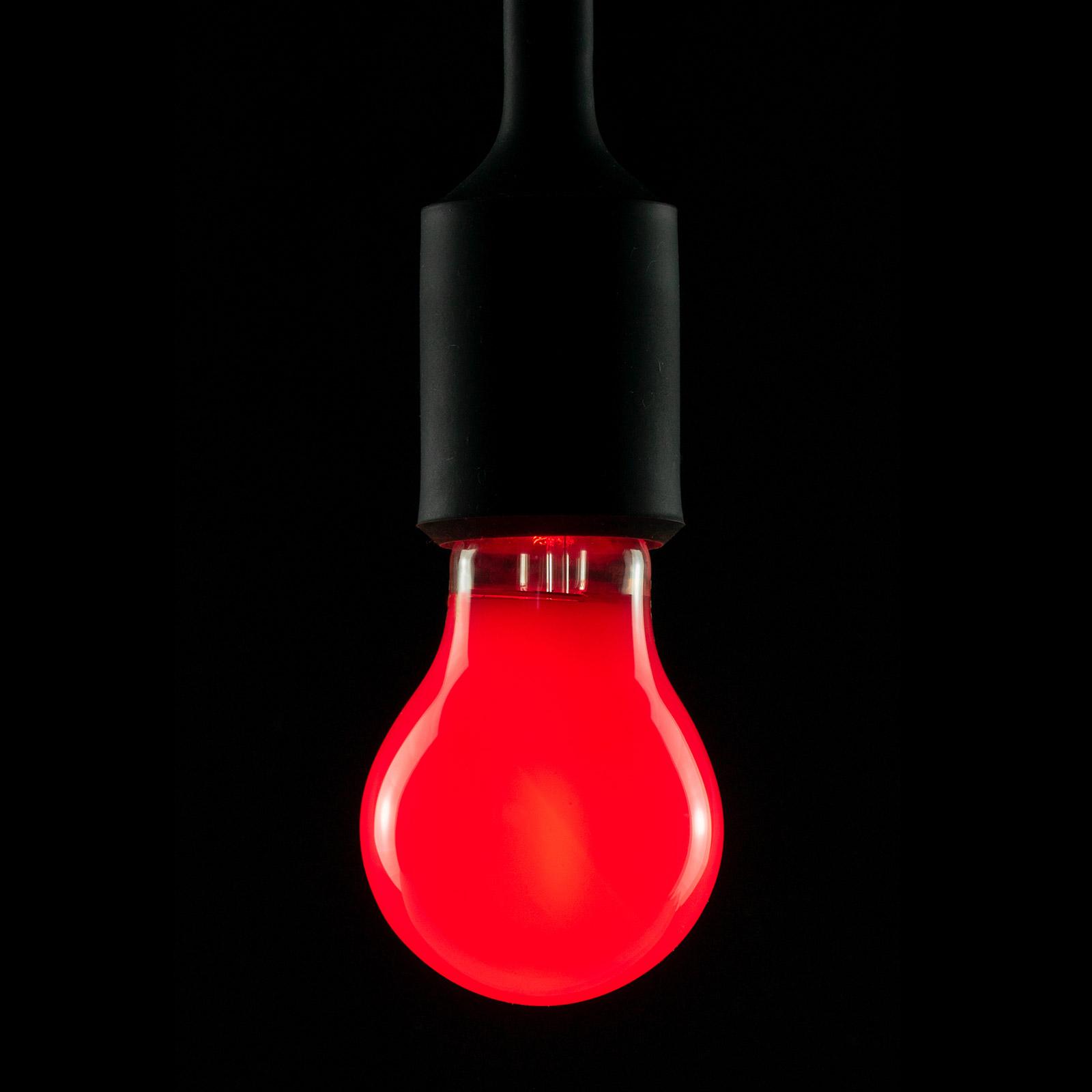 E27 2W LED-hehkulamppu, punainen, himmennettävä
