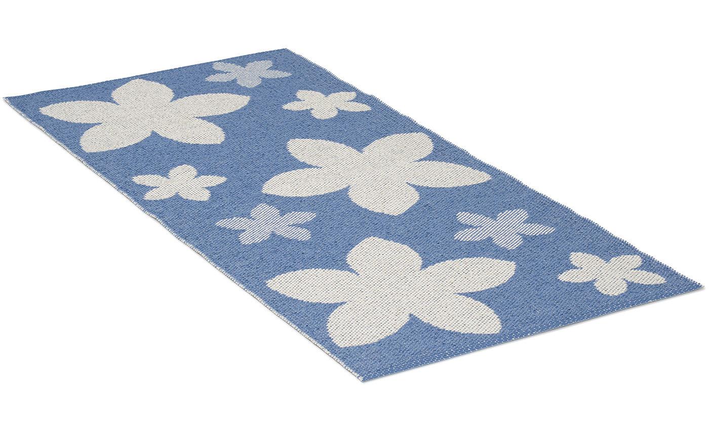 Flower blå - plastteppe