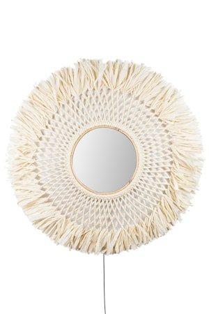 Vegglampe Boho Speil Natur
