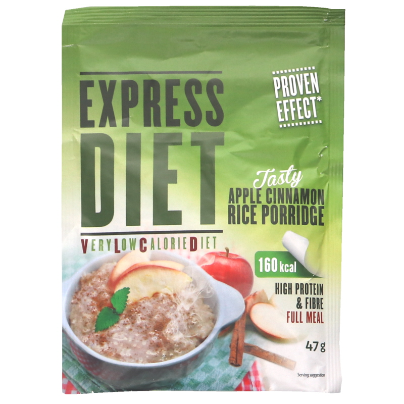 Express Diet Riisipuuro Omena & Kaneli - 61% alennus