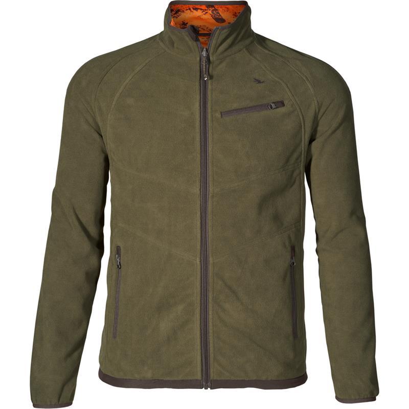 Seeland Vantage reversible fleece M Pine green/InVis orange blaze