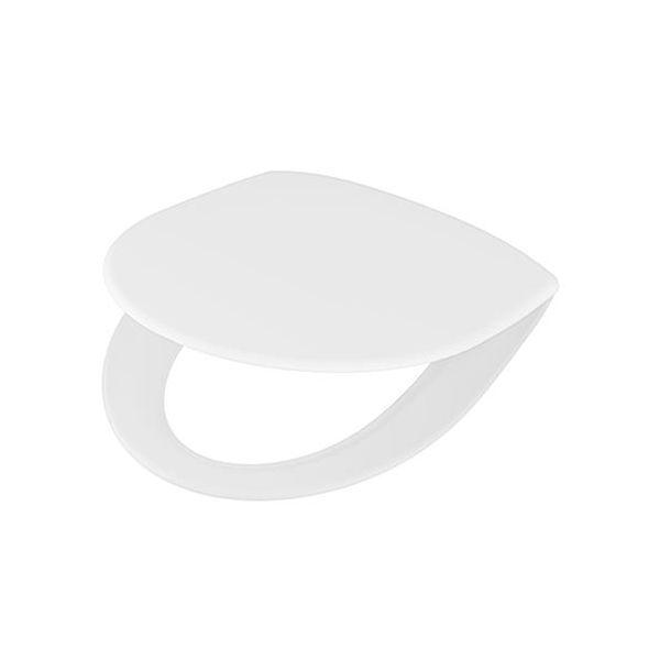 Ifö Spira WC-sete med forkrommede beslag Hvit