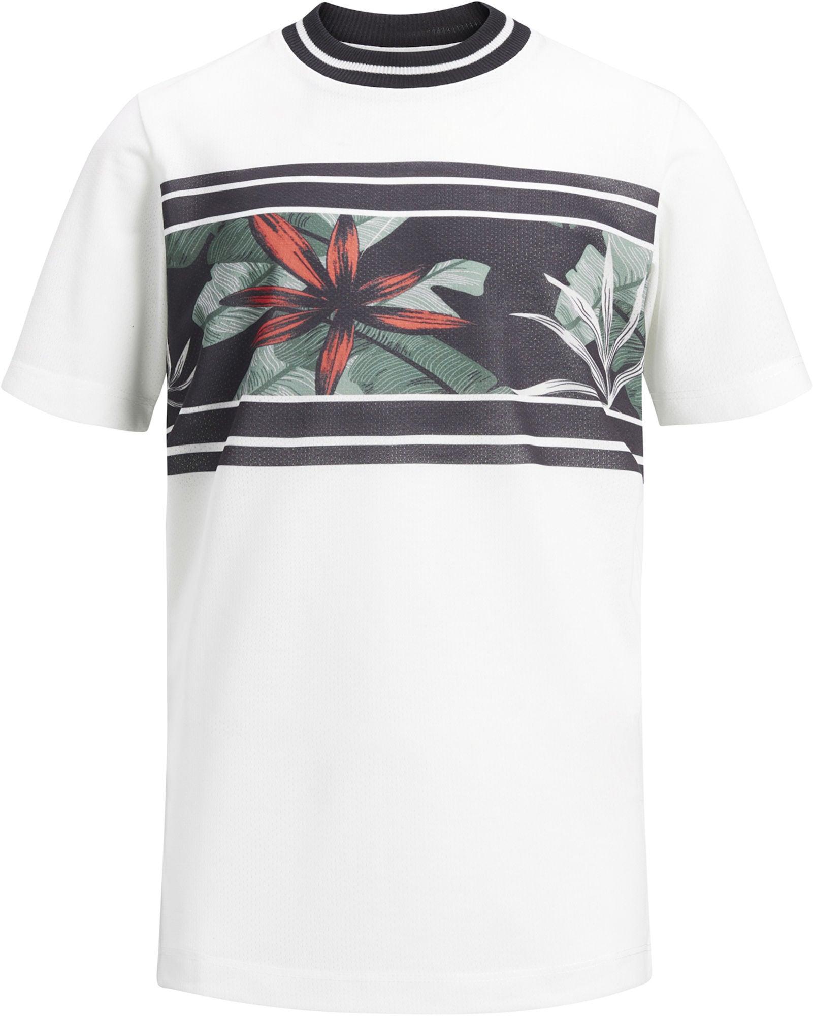 Jack & Jones Meshleaf T-Shirt, Cloud Dancer 140