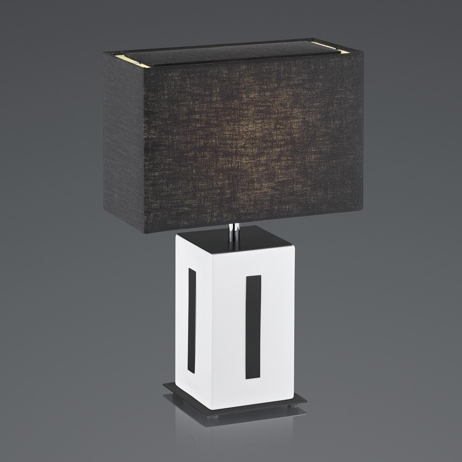 BANKAMP Karlo pöytävalaisin valkoinen/musta, 47cm