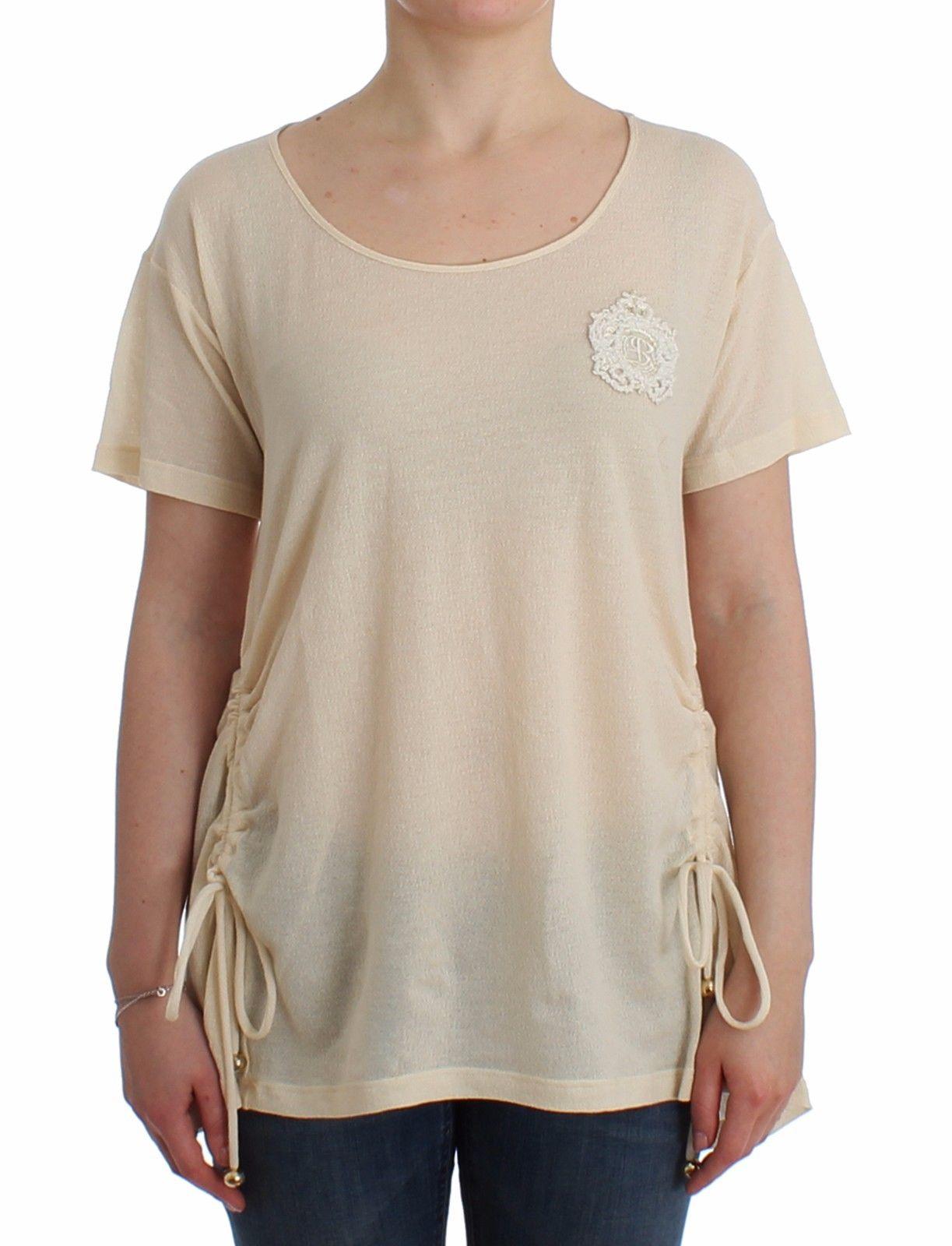 Ermanno Scervino Women's Maxi T-Shirt Top White SIG12027 - IT42 | S