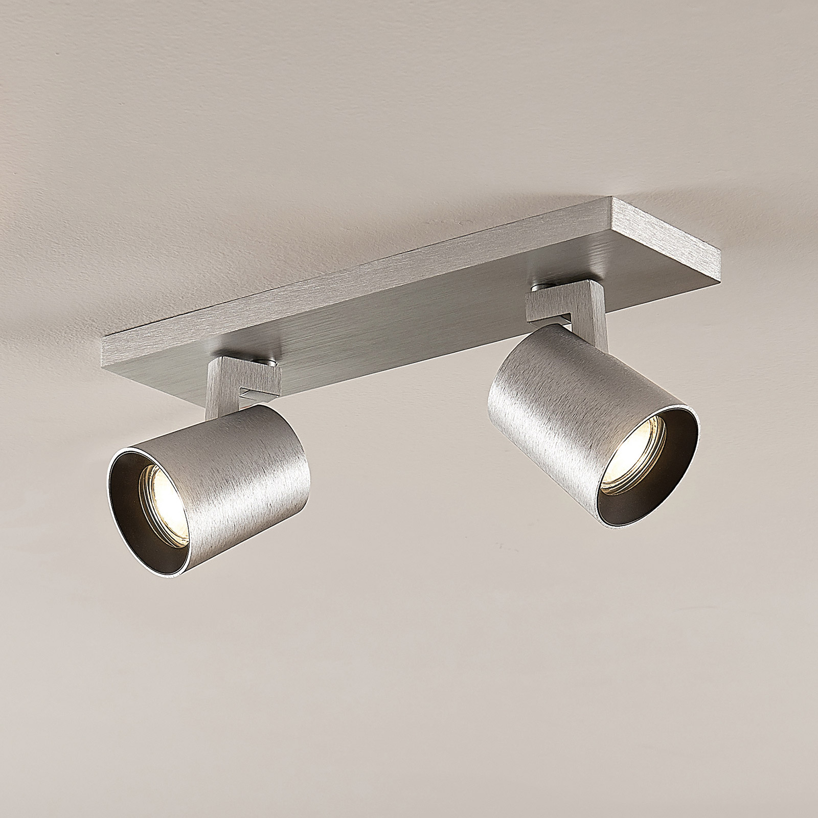 Kattokohdevalo Iavo säädettävä alumiini 2 lamppua
