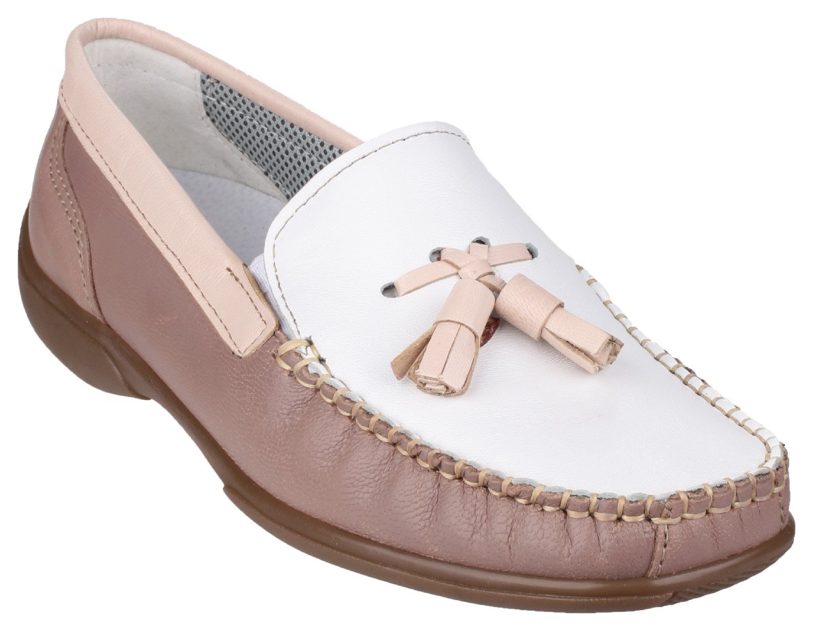 Cotswold Men's Biddlestone Slip On Loafer Shoe Various Colours 20285 - White/Beige/Tan 3