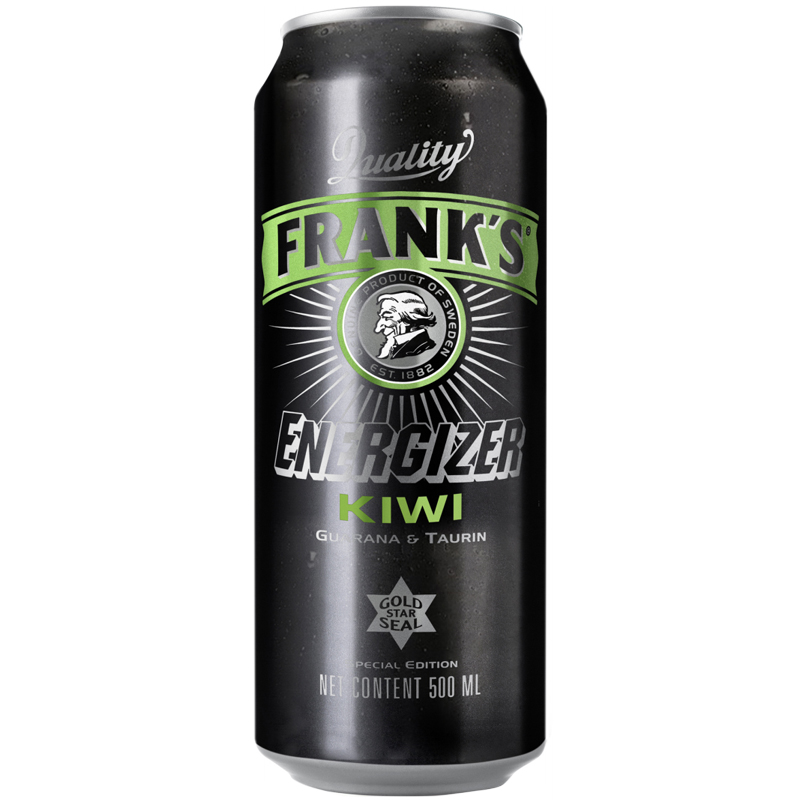 "Energiajuoma ""Frank's Kiwi"" 500ml - 20% alennus"