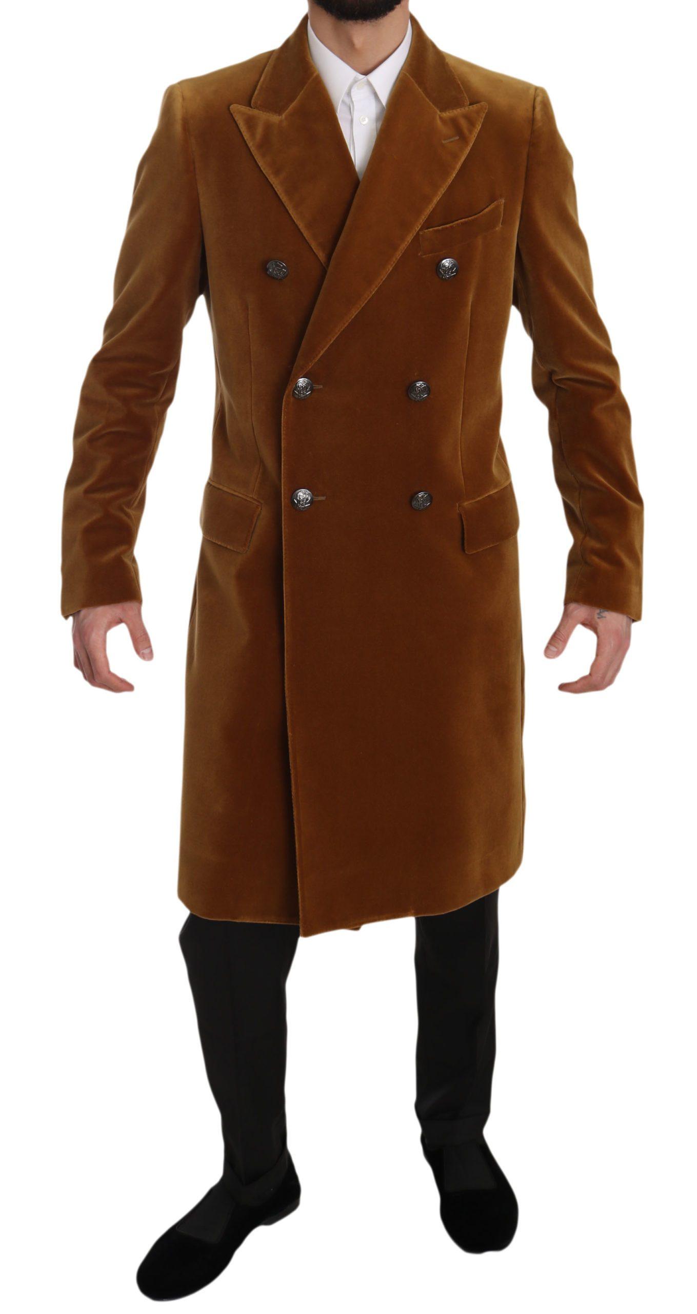 Dolce & Gabbana Men's Jacket Yellow JKT2389 - IT48   M