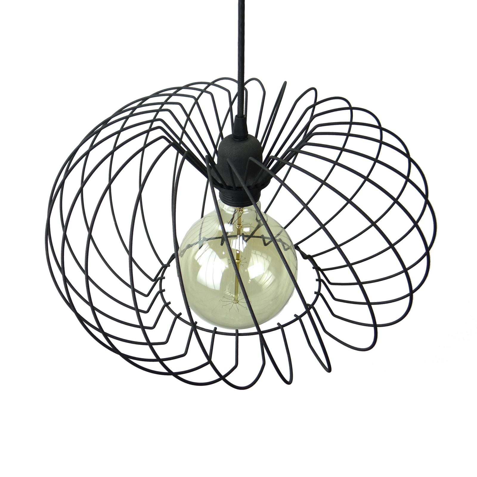 Riippuvalaisin Kula, 1-lamppuinen, Ø 37cm, musta