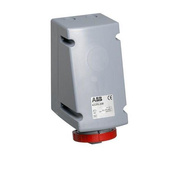 ABB 2CMA168498R1000 Seinäpistorasia IP67, 4P+J, edelleensyöttöön