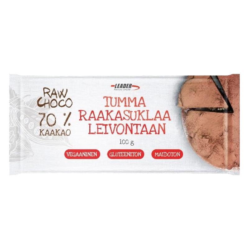 """Bakchoklad """"Raw Choco 70%"""" 100g - 75% rabatt"""