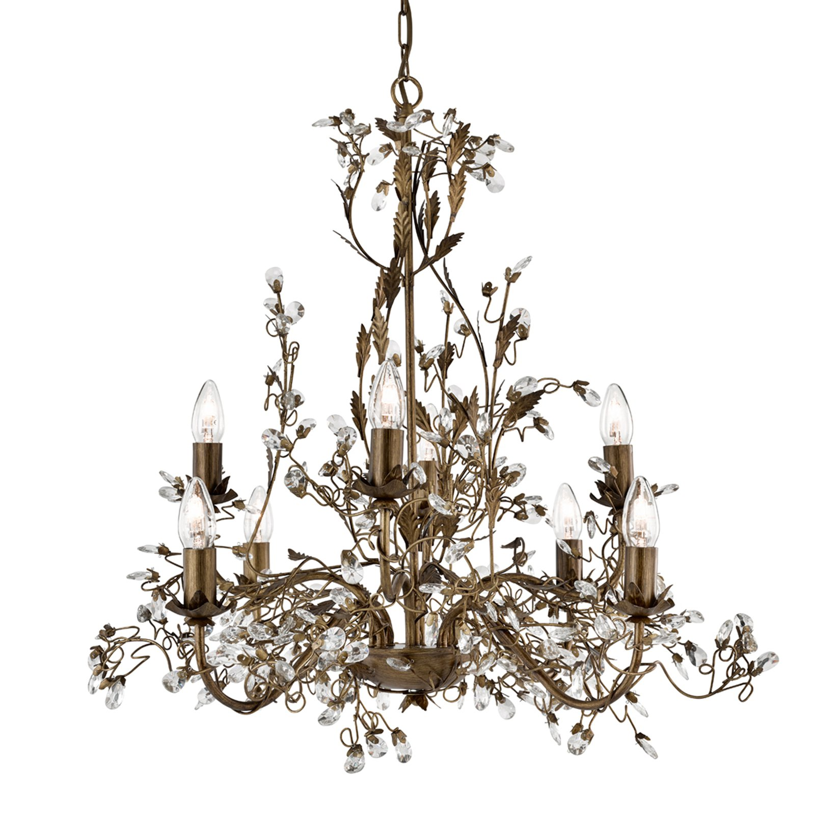 8 lys Vegglampe Almandite i florentinsk stil