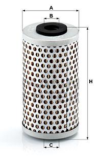 Hydrauliikkasuodatin, ohjaus MANN-FILTER H 601/6