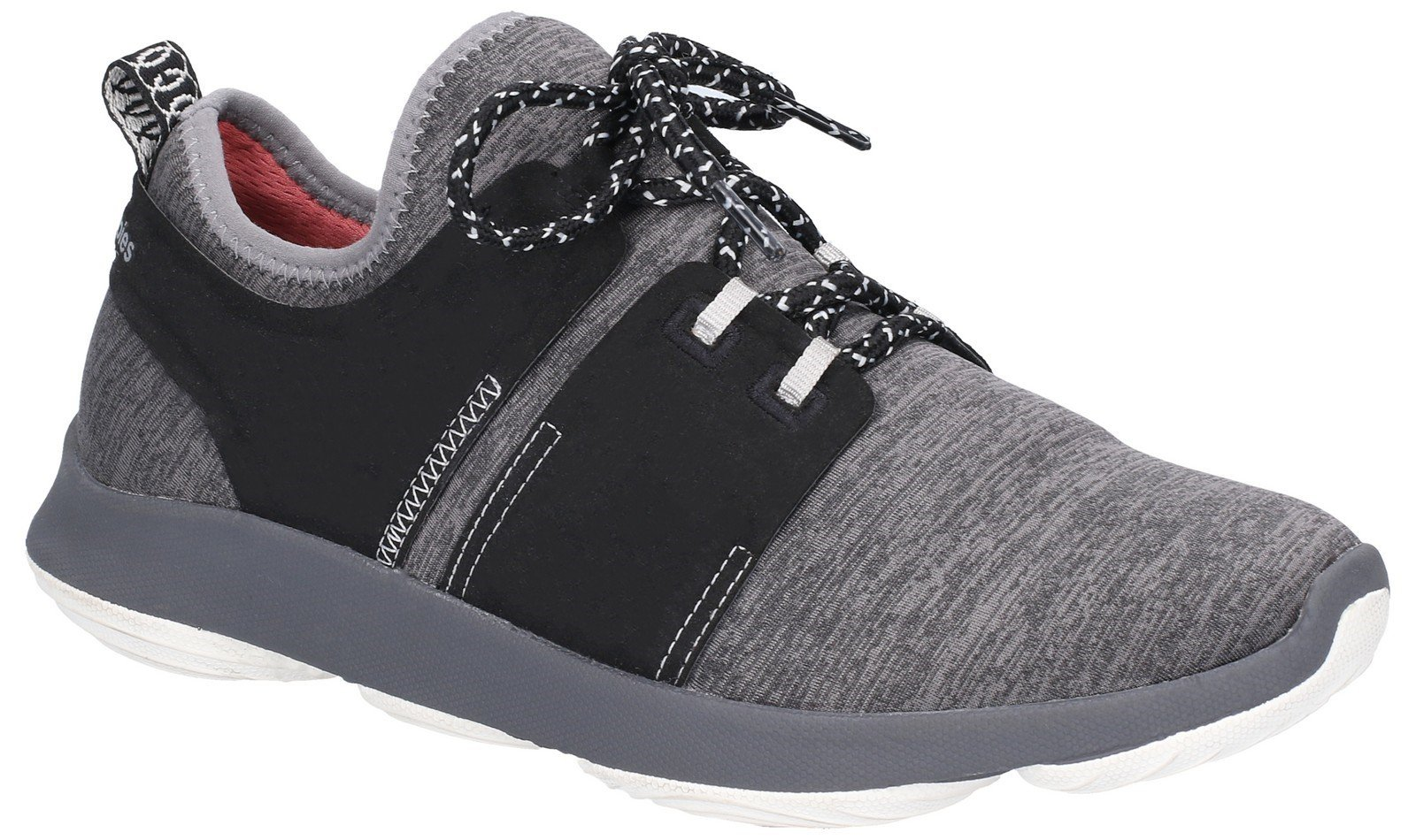 Hush Puppies Women's Geo BounceMax Lace Up Trainer Various Colours 28182 - Dark Grey 3
