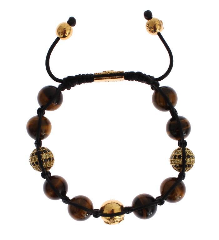 Nialaya Women's CZ Brown Tigers Eye 925 Bracelet Brown SIG19021 - S