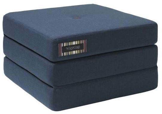 KlipKlap 3 Fold Single Madrass, Blue Grey