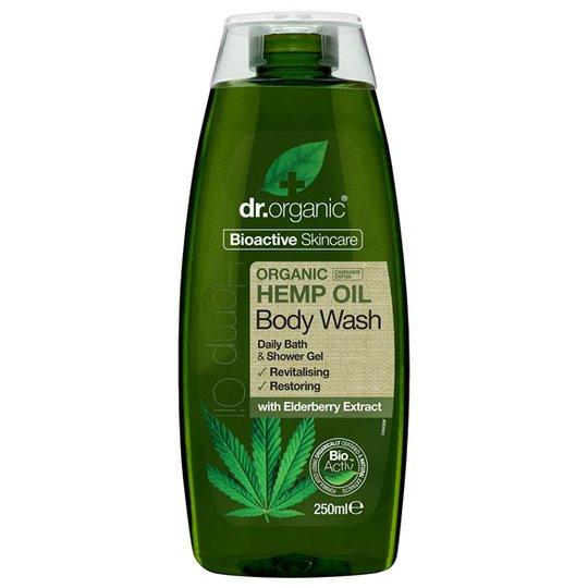 Dr. Organic Hemp Oil Body Wash, 250 ml